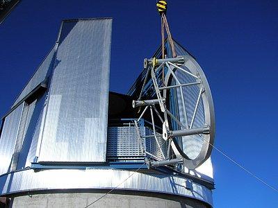 VISTA telescope being installed