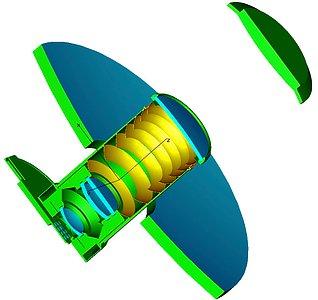 The VISTA optical design in schematic form