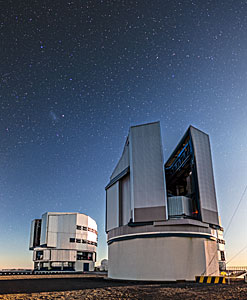 The VLT Survey Telescope at twilight