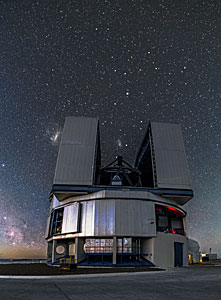 VLT and a field of stars