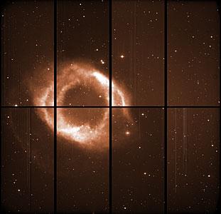 The Helix Nebula with WFI
