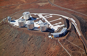 Mounted image 188: Aerial View of the VLT Platform