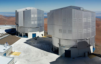 Mounted image 187: The VLT platform on top of Cerro Paranal