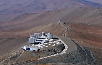 Mounted image 011: An aerial view of the Paranal Observatory in Chile