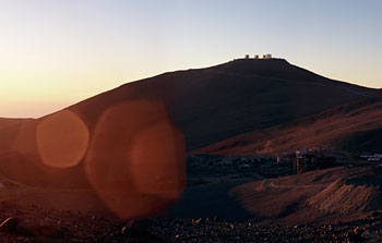Mounted image 002: Paranal Observatory at sunset, panorama 2007