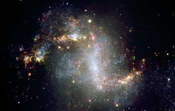 Mounted image 028: The topsy-turvy galaxy NGC 1313