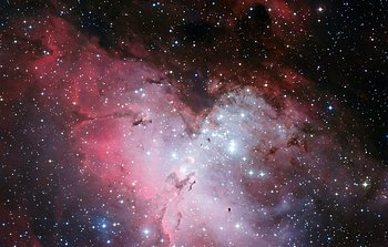 Mounted image 137: The Eagle Nebula and the Pillars of Creation