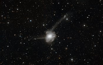 Mounted image 120: Atoms-for-Peace: a galactic collision in action