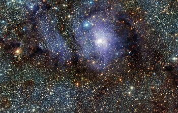 Mounted image 190: VISTA's infrared view of the Lagoon Nebula (Messier 8)