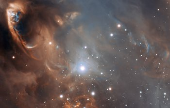 Mounted image 177: Close-up of the drama of star formation