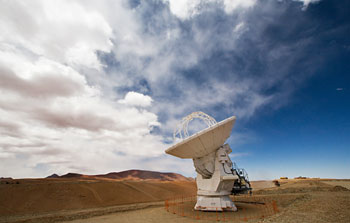 Mounted image 102: An ALMA antenna on Chajnantor