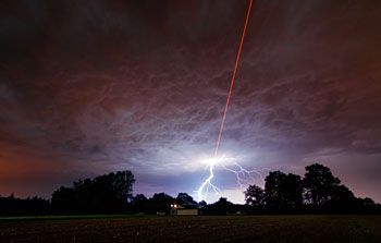 Mounted image 192: Laser Meets Lightning