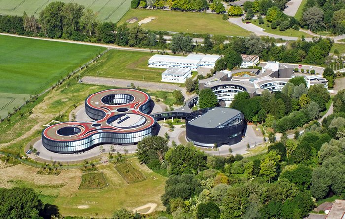 Aerial view of ESO's Headquarters