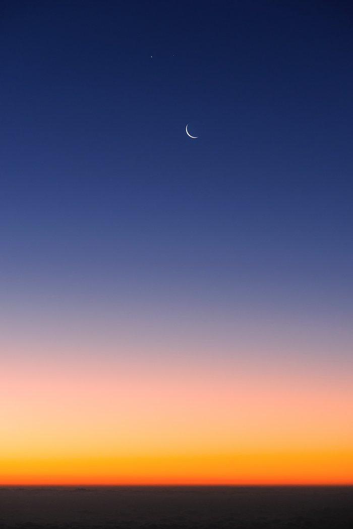 La Luna, Venus y Marte desde Paranal