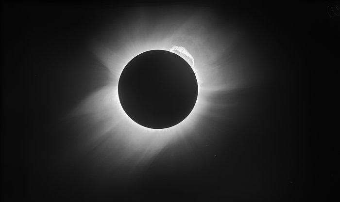 Moderne Ansicht der Sonnenfinsternis von 1919