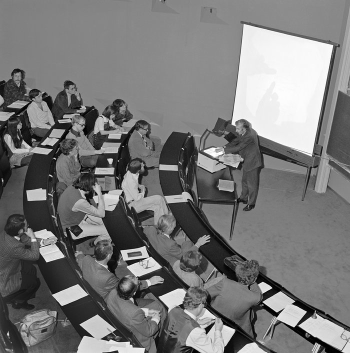 First colloquium at ESO HQ, 1980