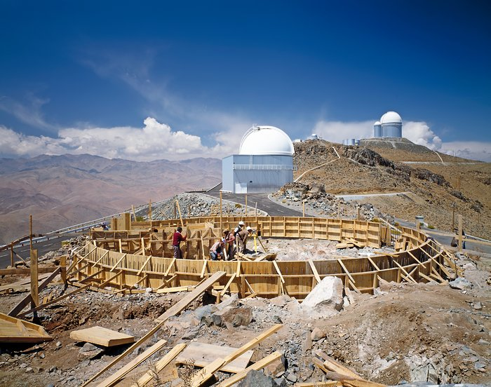 Building the MPG/ESO 2.2-metre telescope at La Silla