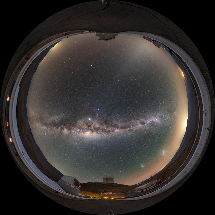 Astronaut's view of Milky Way above La Silla