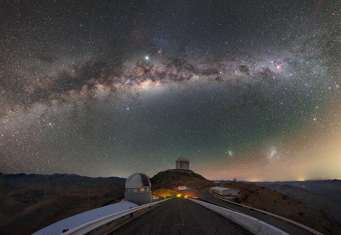 Milky Way trail above La Silla