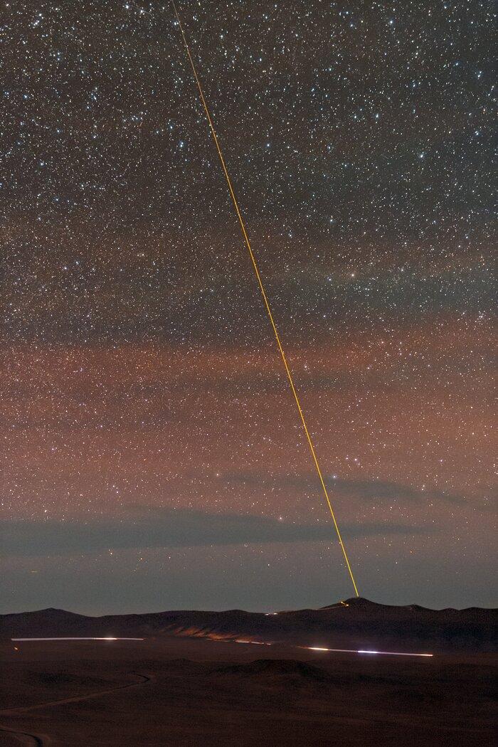 VLT Laser Guide Star joins the night sky