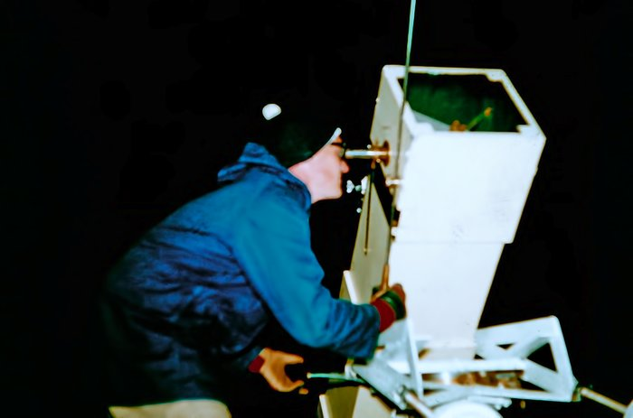 Observing with the Danjon telescope