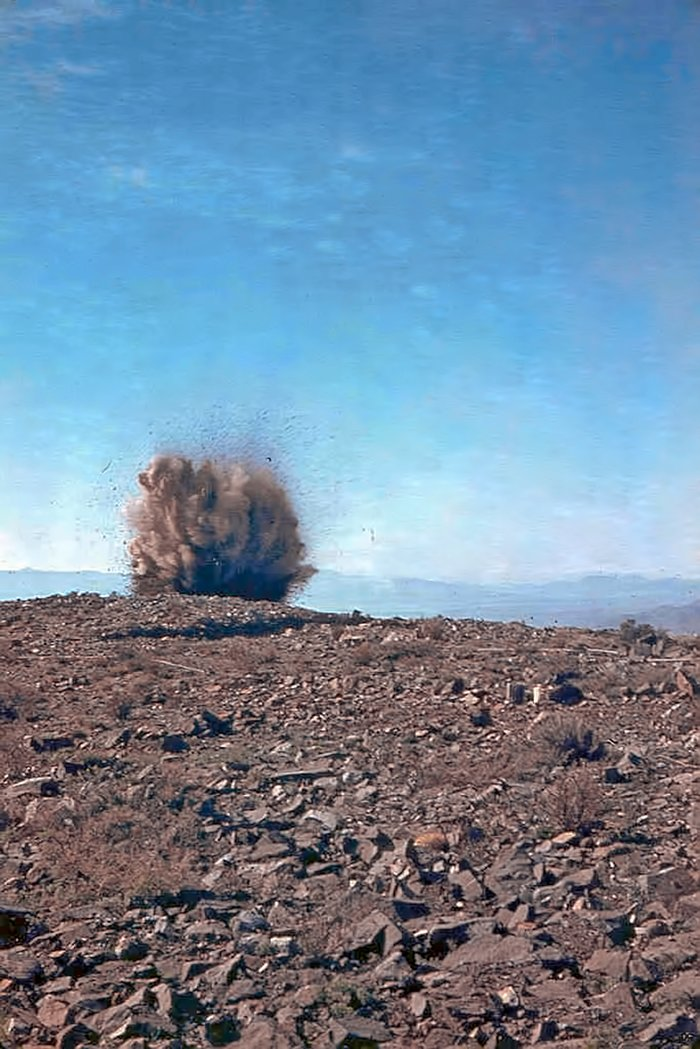 Clearing ground for La Silla construction