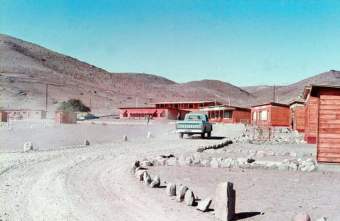 The Pelicano Camp, the entrance to the La Silla observatory.