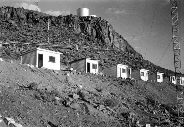 La Silla observatory under construction