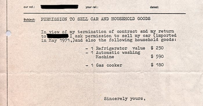 Sale authorisation, 1972