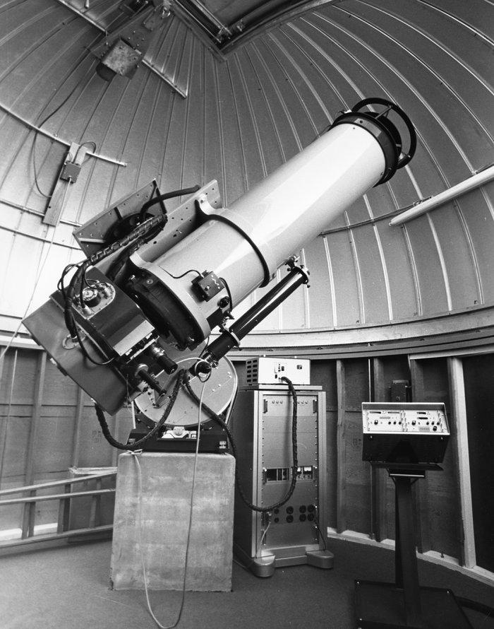 The Swiss 0.4-metre telescope in 1976
