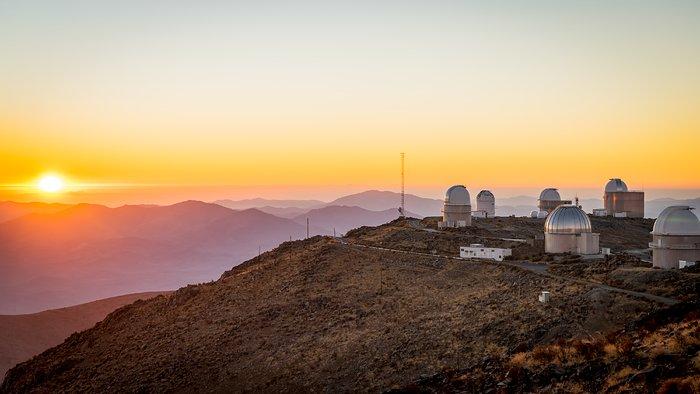 Sunset over La Silla Observatory