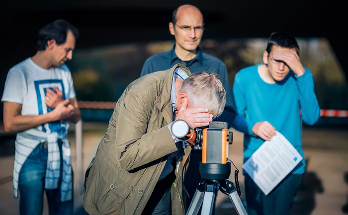 Solar observations during the ESO Open House Day 2017