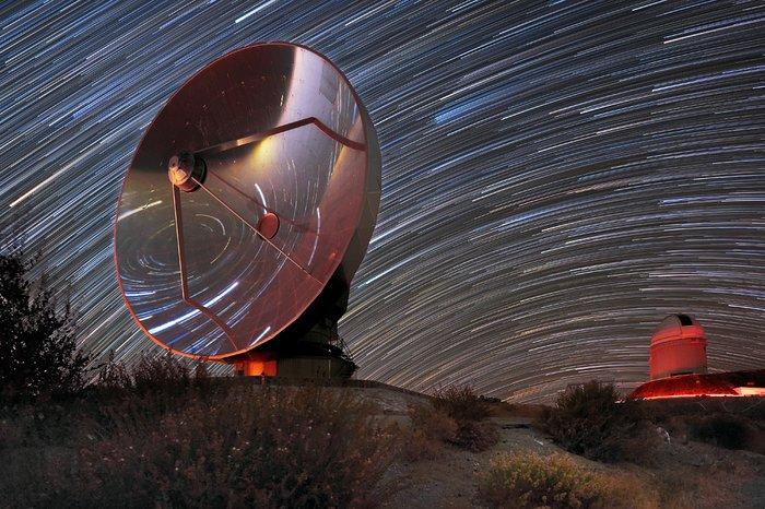Star trails over SEST