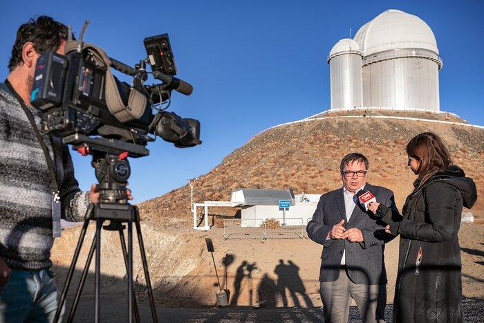 ESO Director General at La Silla