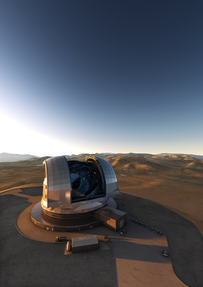 Artist impression of the E-ELT dome