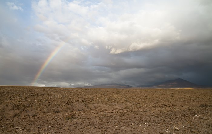 Rainbow over the ALMA site