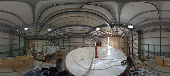 ALMA antennas at the AEM hangar
