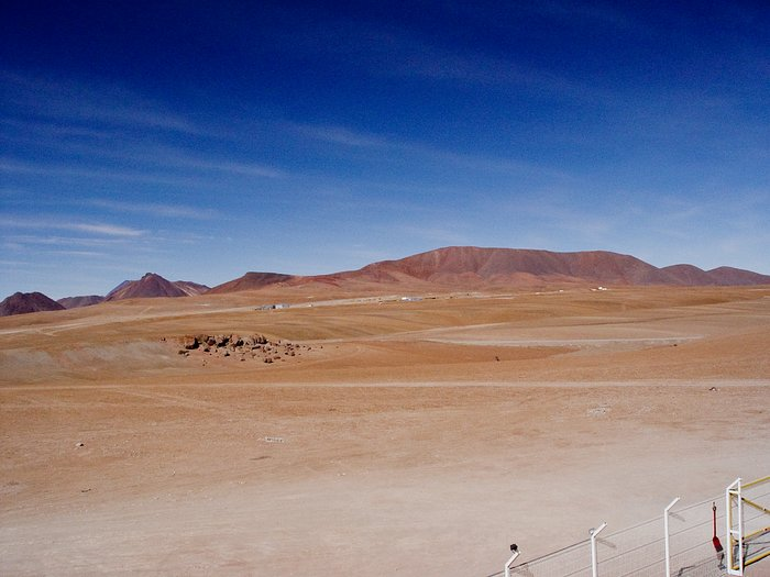 The ALMA site from APEX