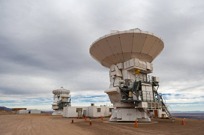 Two Japanese Antennas for ALMA
