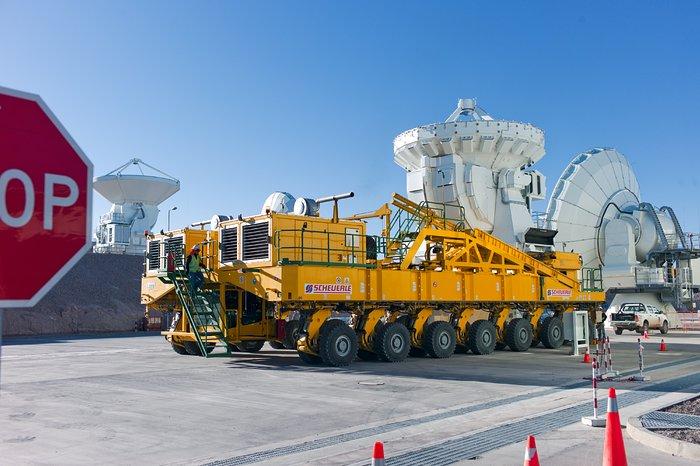 The ALMA transporter ready to go