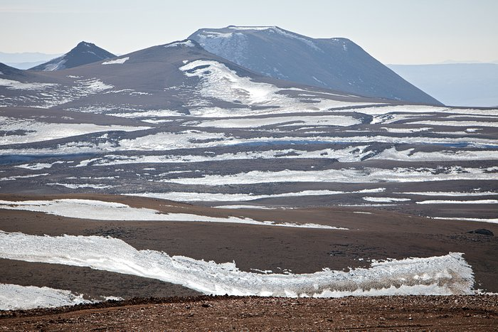 Snow at the Chajnantor plateau