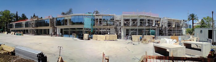 Construction of the ALMA Santiago Central Office building at Vitacura