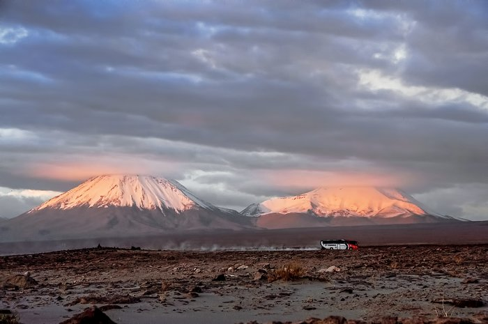Snowy Licancabur and Jurique