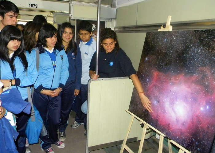 The Science Train visits the Antofagasta Region