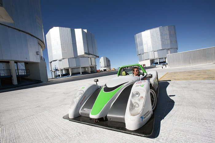 The Racing Green Endurance SRZero electric supercar visiting ESO's VLT