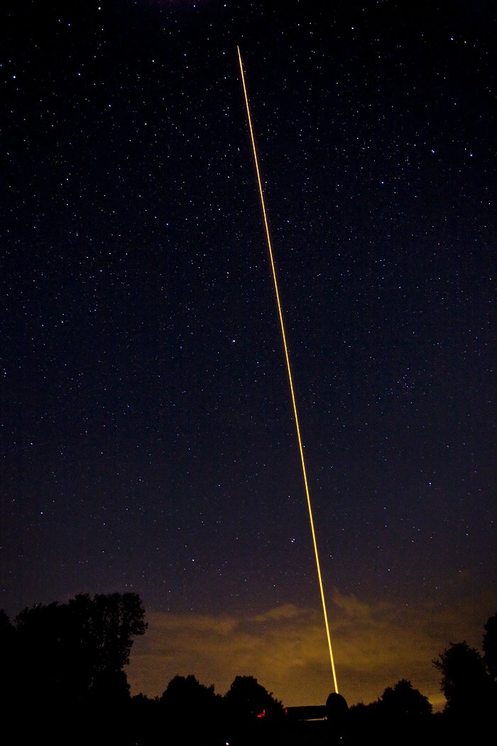 ESO's New Compact Laser Guide Star Unit Tested