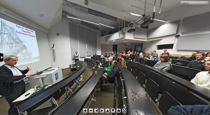 Screenshot of ESO Virtual Tours 360° at ESO Headquarters