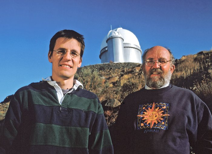 Didier Queloz and Michel Mayor at La Silla