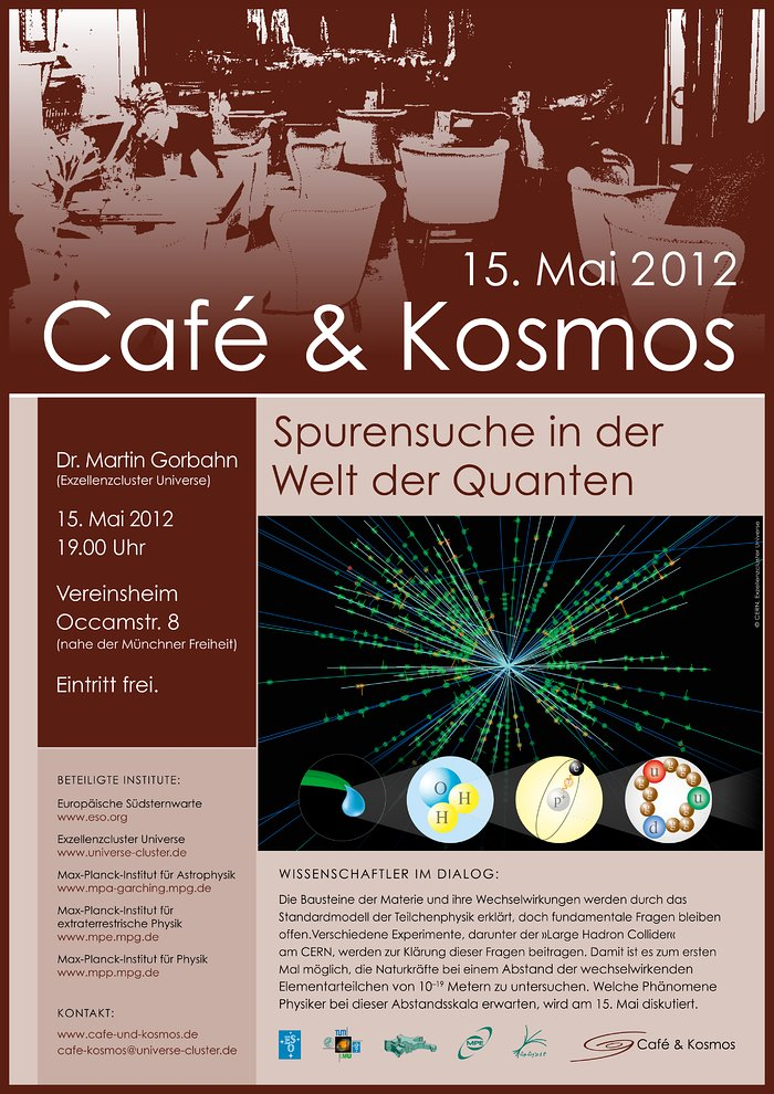Poster zu Café & Kosmos am 15. Mail 2012