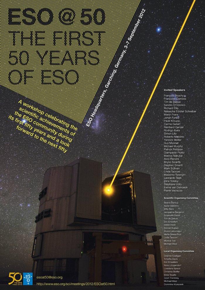Poster der wissenschaftlichen Fachtagung ESO@50